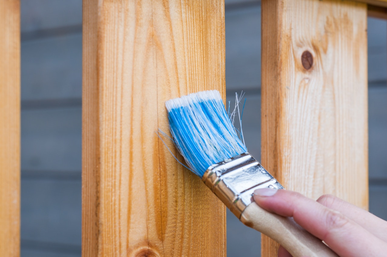 paint or stain fence